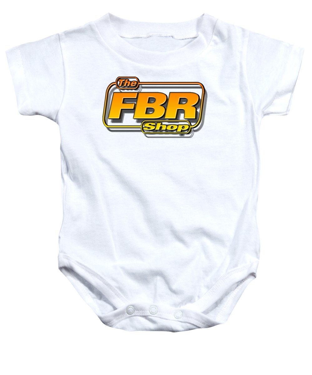 5e67dc0ae Motorcycle Baby Onesie featuring the digital art The Fbr Shop 001 by Jack  Norton