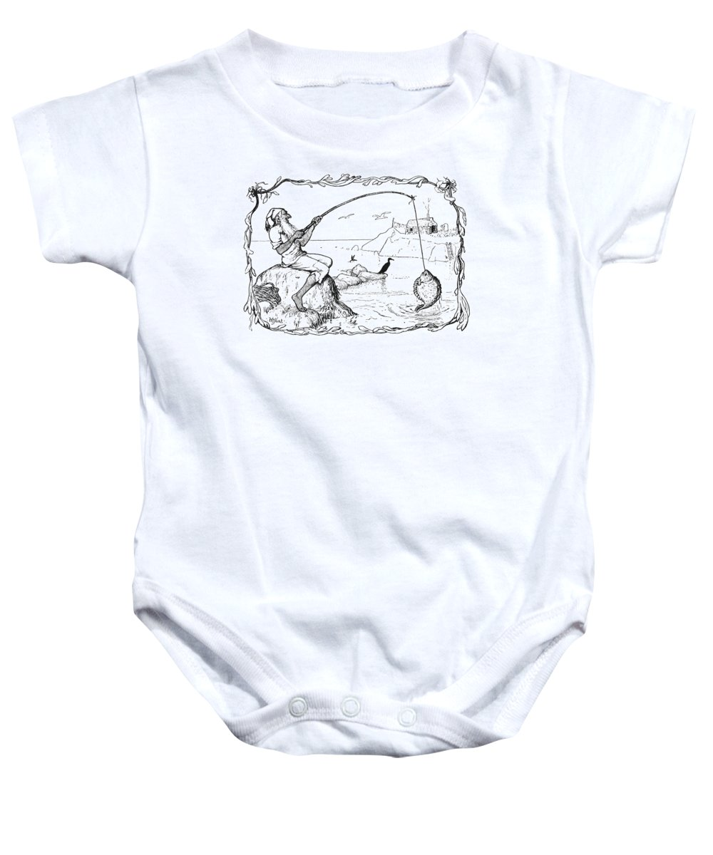 1892 Baby Onesie featuring the photograph The Fisherman And His Wife by Granger