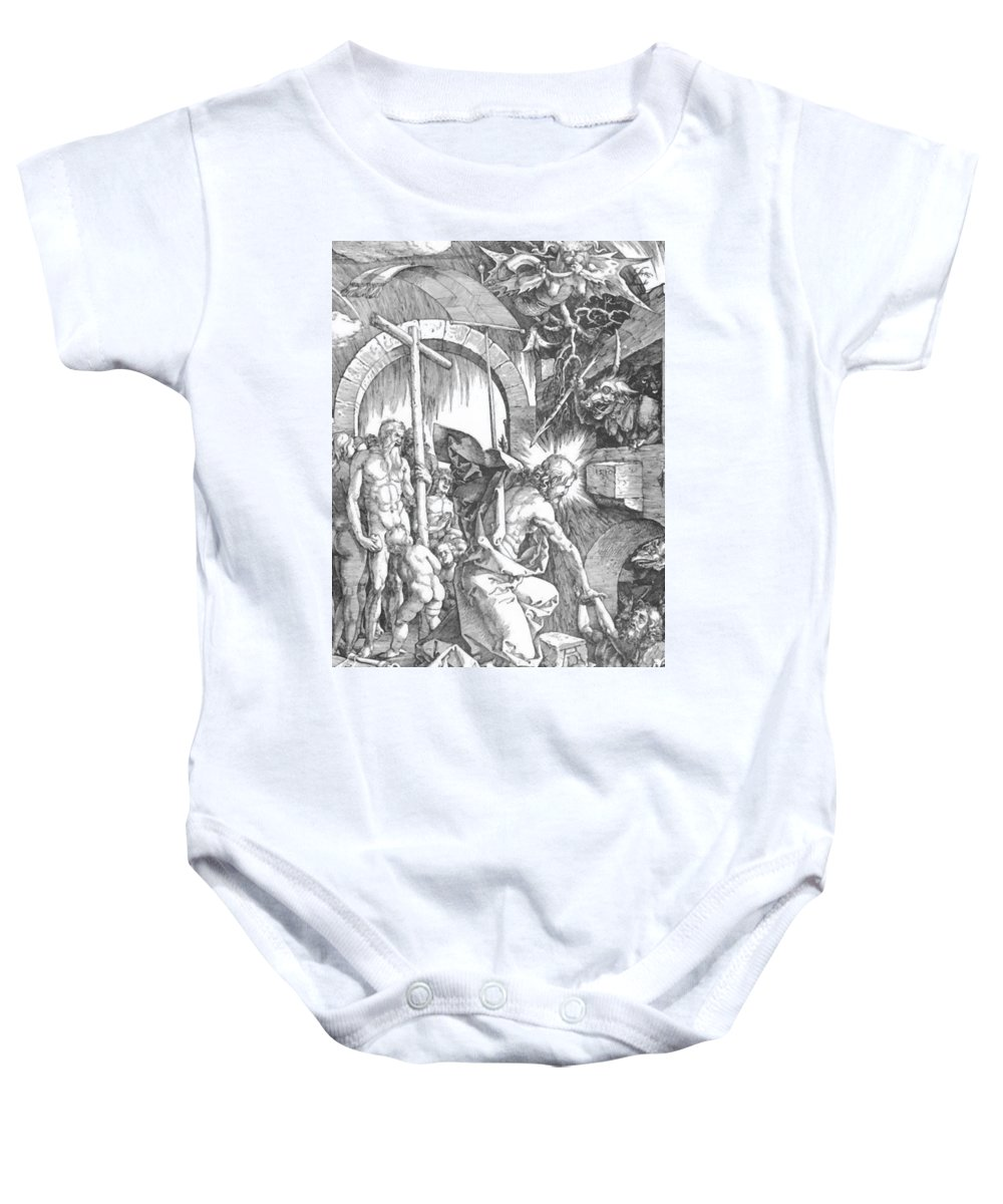 The Baby Onesie featuring the painting The Harrowing Of Hell Or Christ In Limbo From The Large Passion 1510 by Durer Albrecht