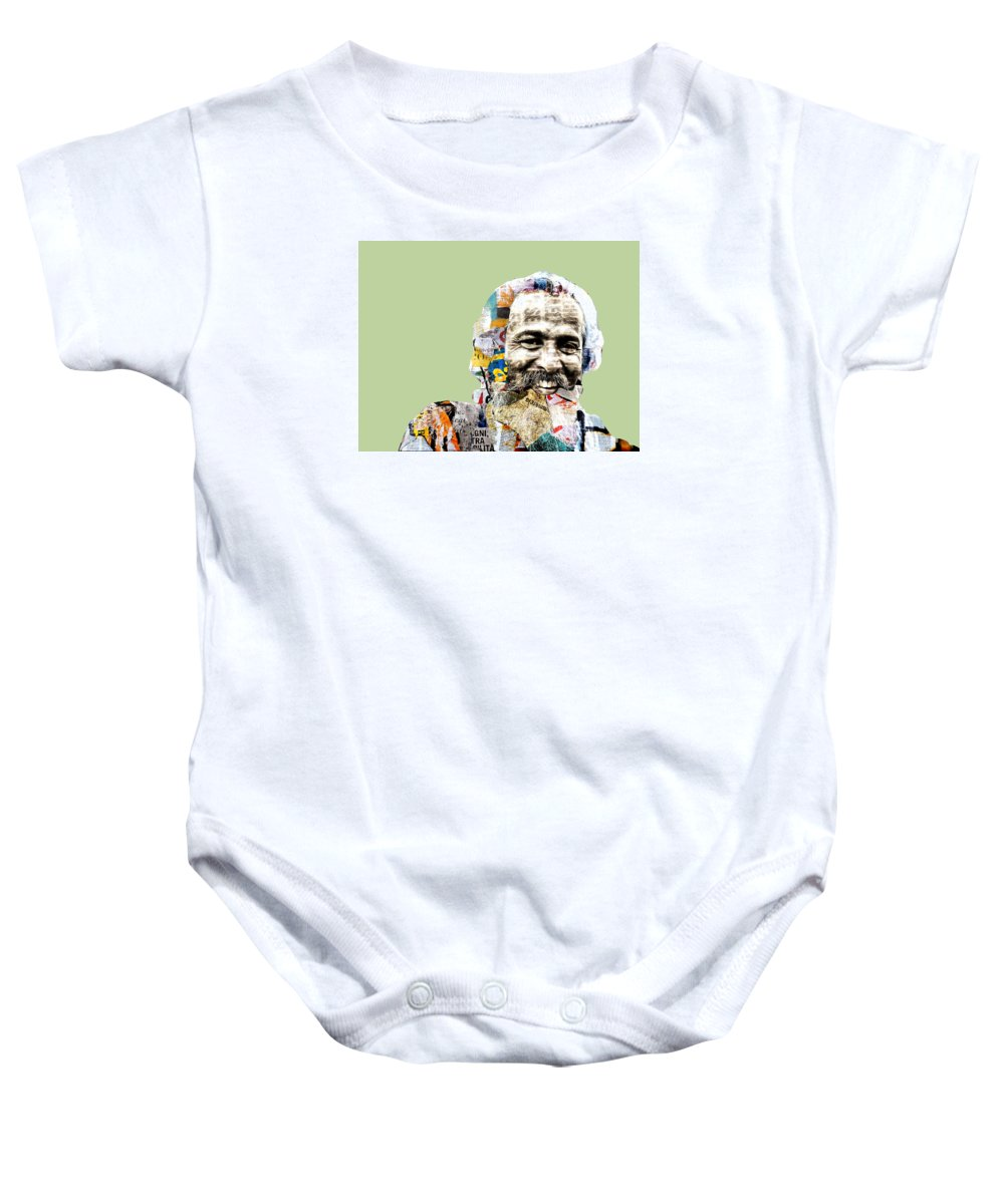 Pop Art Baby Onesie featuring the photograph The Journalist by Dominic Piperata