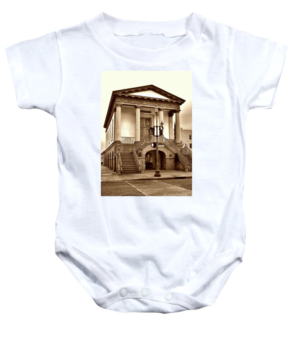 Culture Baby Onesie featuring the photograph The Market, Charleston by Skip Willits