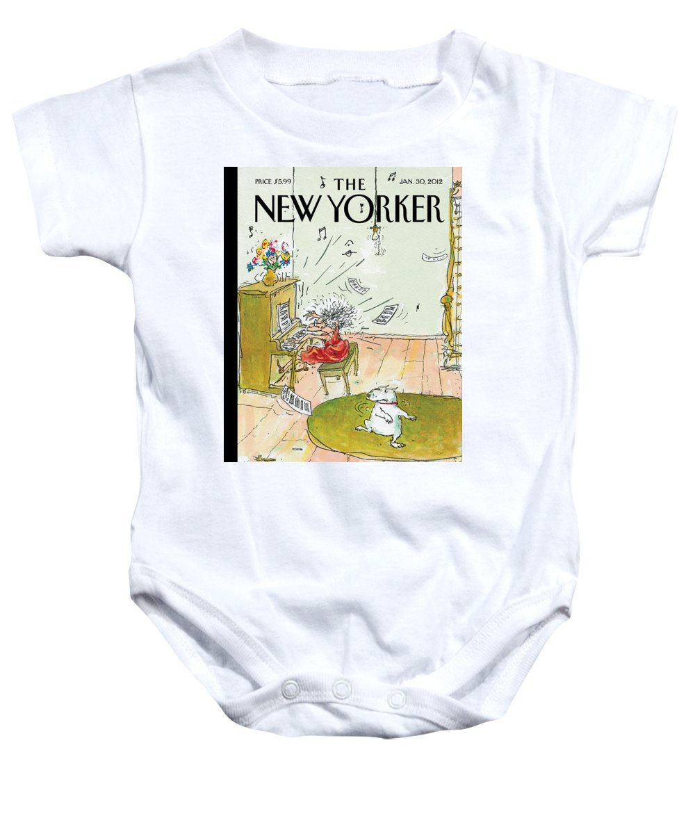 Woman Baby Onesie featuring the photograph Winter Blues by George Booth