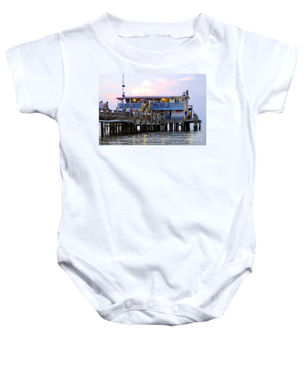 Fishing Pier Baby Onesie featuring the photograph The Old Pier by David Lee Thompson