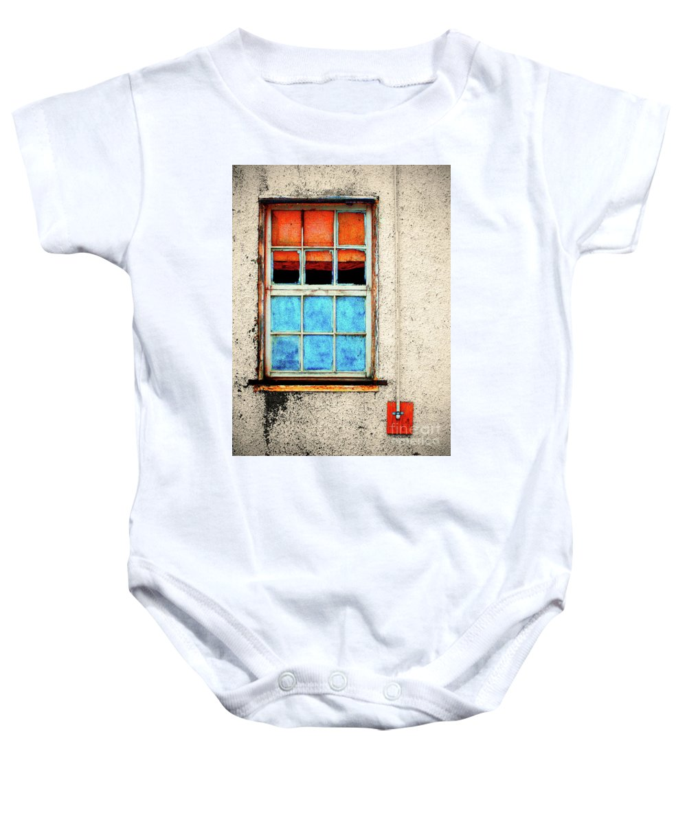 Window Baby Onesie featuring the photograph The Old Window by Tara Turner