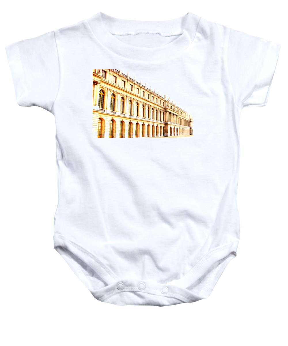 Versailles Baby Onesie featuring the photograph The Palace by Amanda Barcon