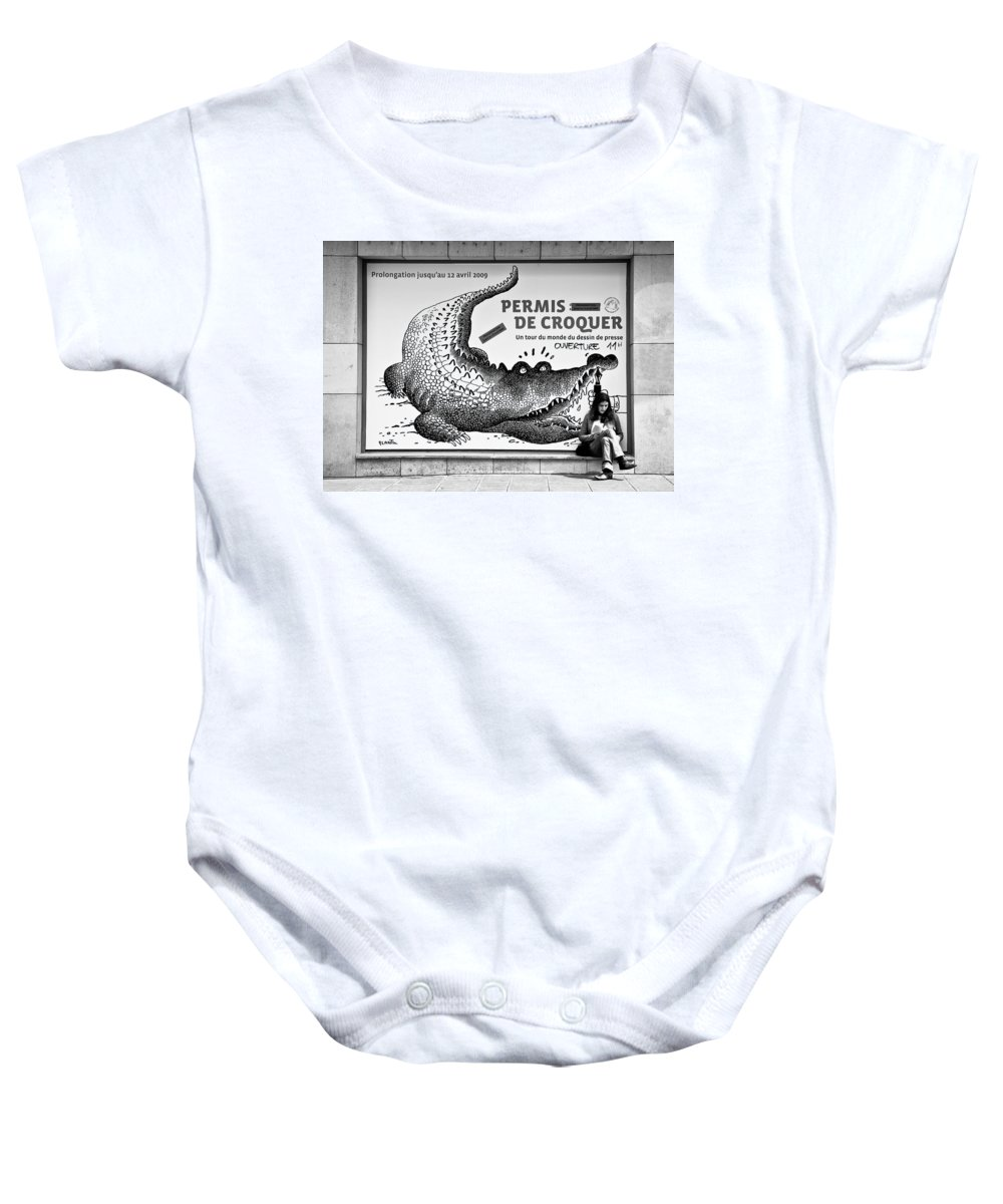 Street Photography Baby Onesie featuring the photograph The Pen Is Mightier Than... by Dave Bowman