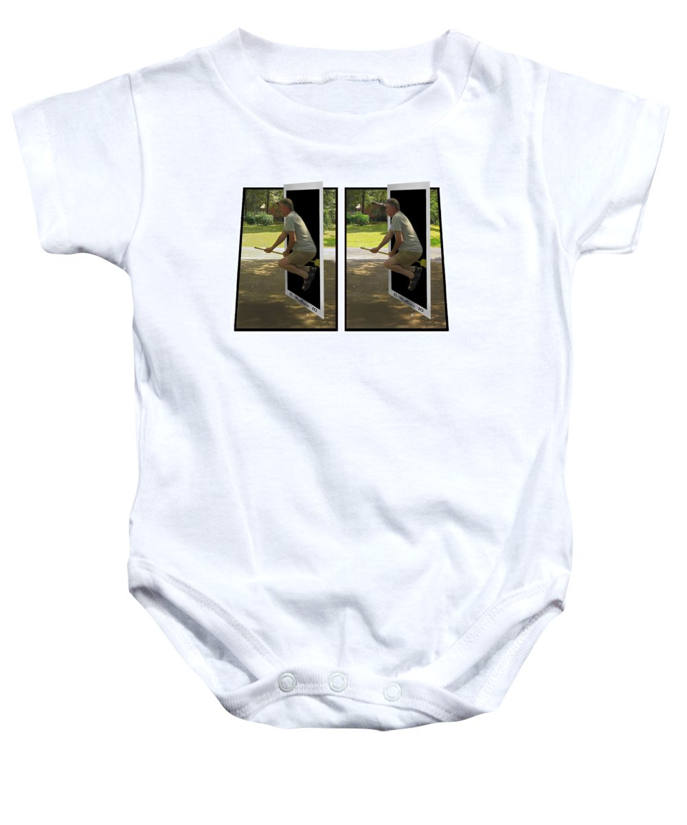 2d Baby Onesie featuring the photograph The Potter Effect - Gently Cross Your Eyes And Focus On The Middle Image by Brian Wallace