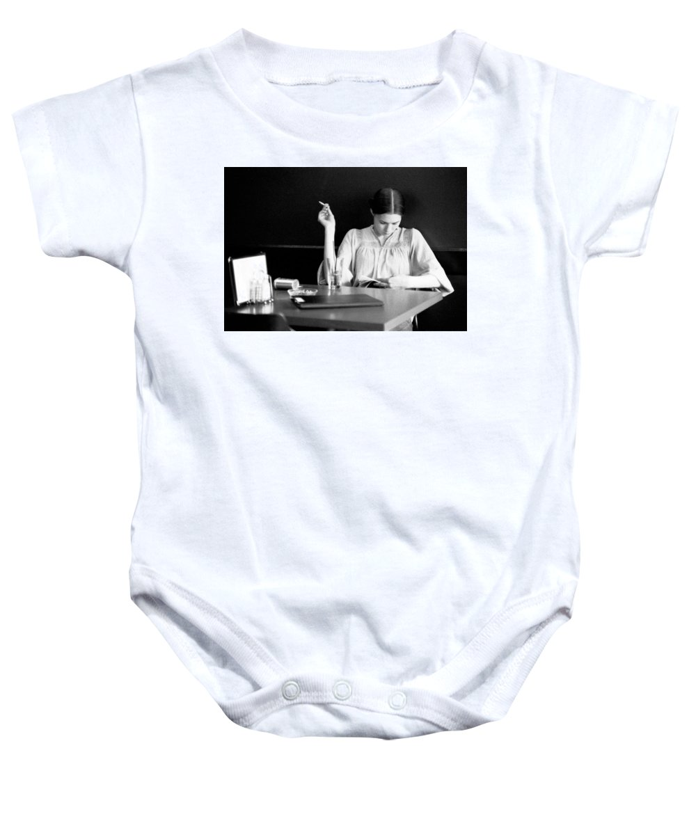 Woman Baby Onesie featuring the photograph The Reader. by Spirit Vision Photography
