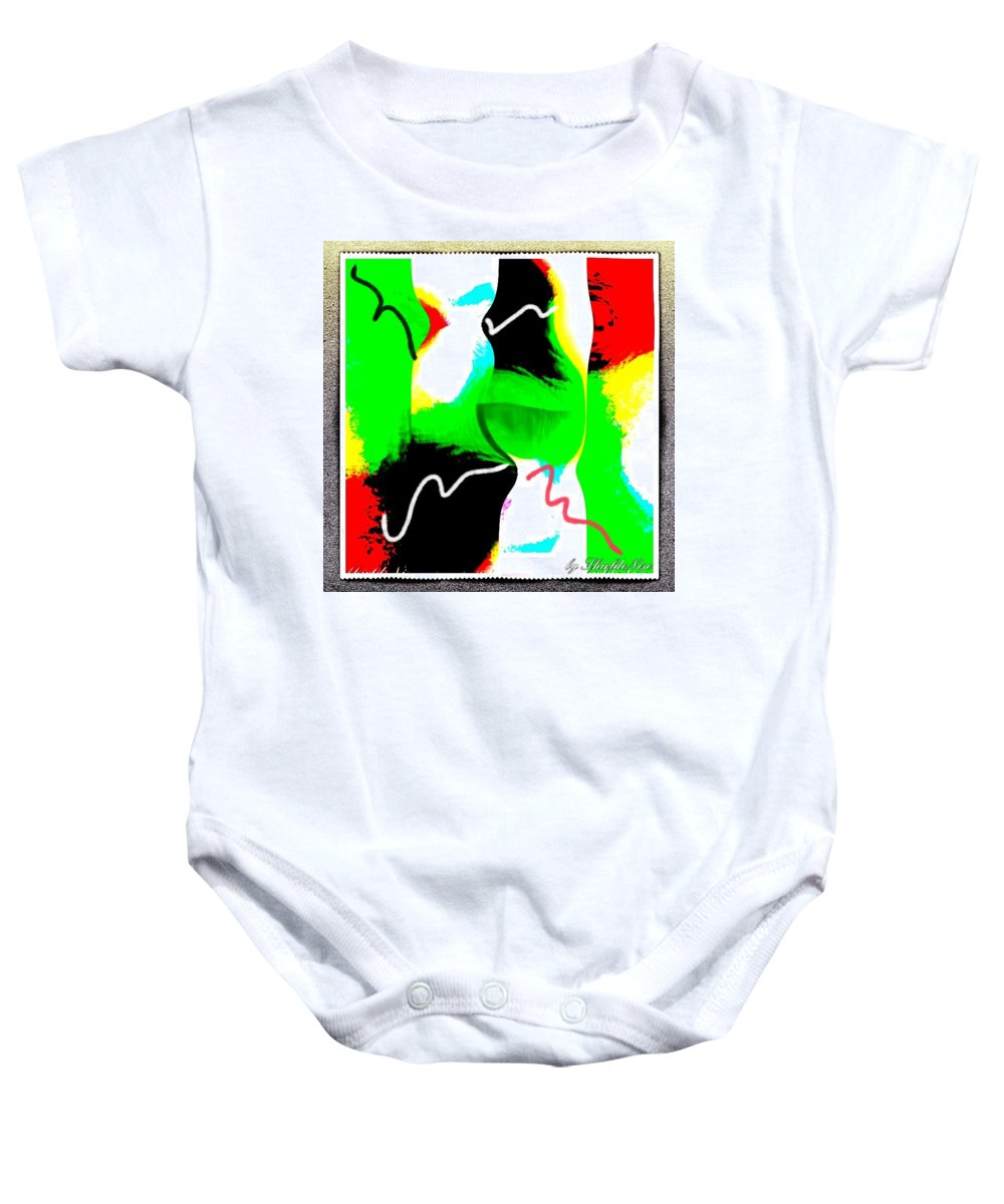 Sketch Baby Onesie featuring the mixed media The Rewrite by Shirl Denise Frisby