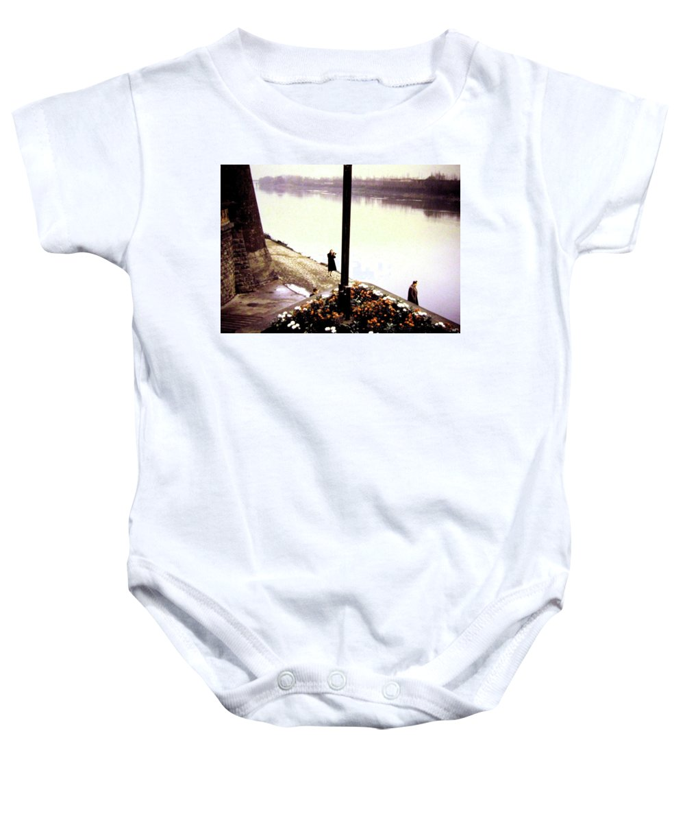 1955 Baby Onesie featuring the photograph The River Seine 1955 by Will Borden