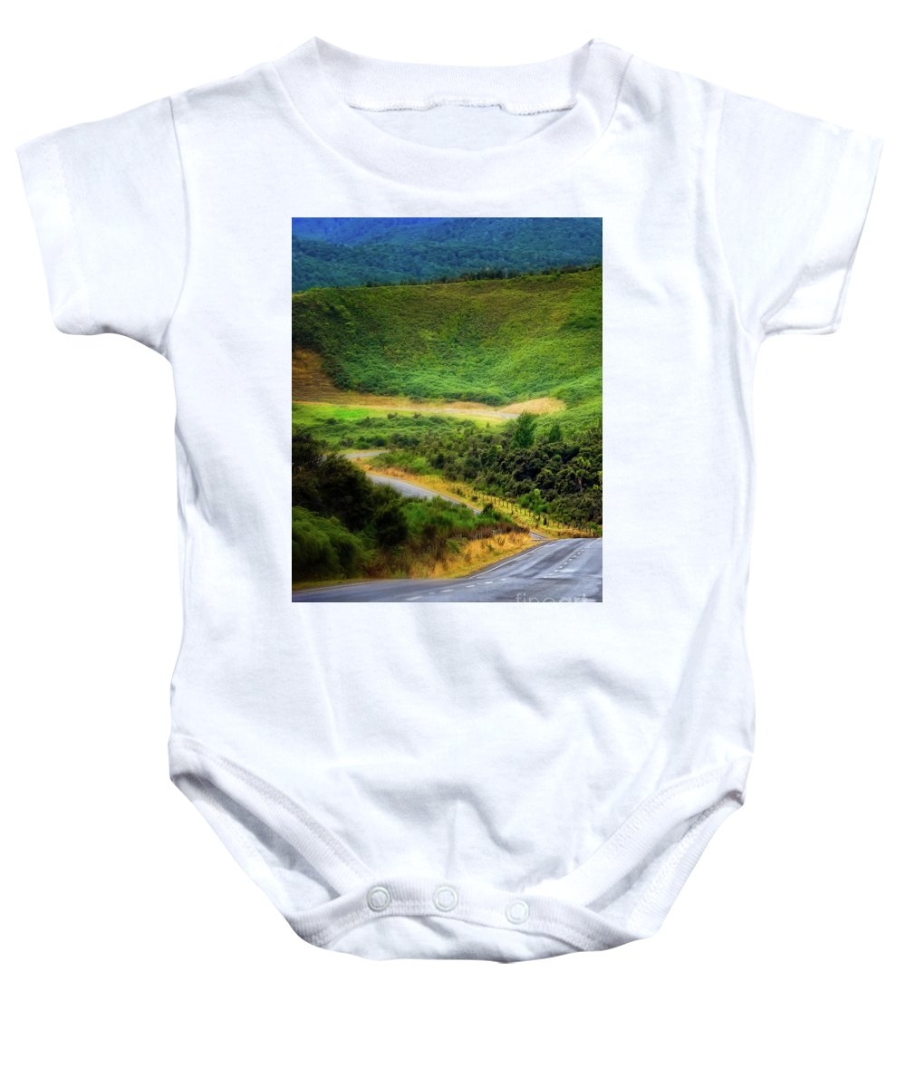 New Zealand Baby Onesie featuring the photograph The Road To Milford Sound by Doug Sturgess