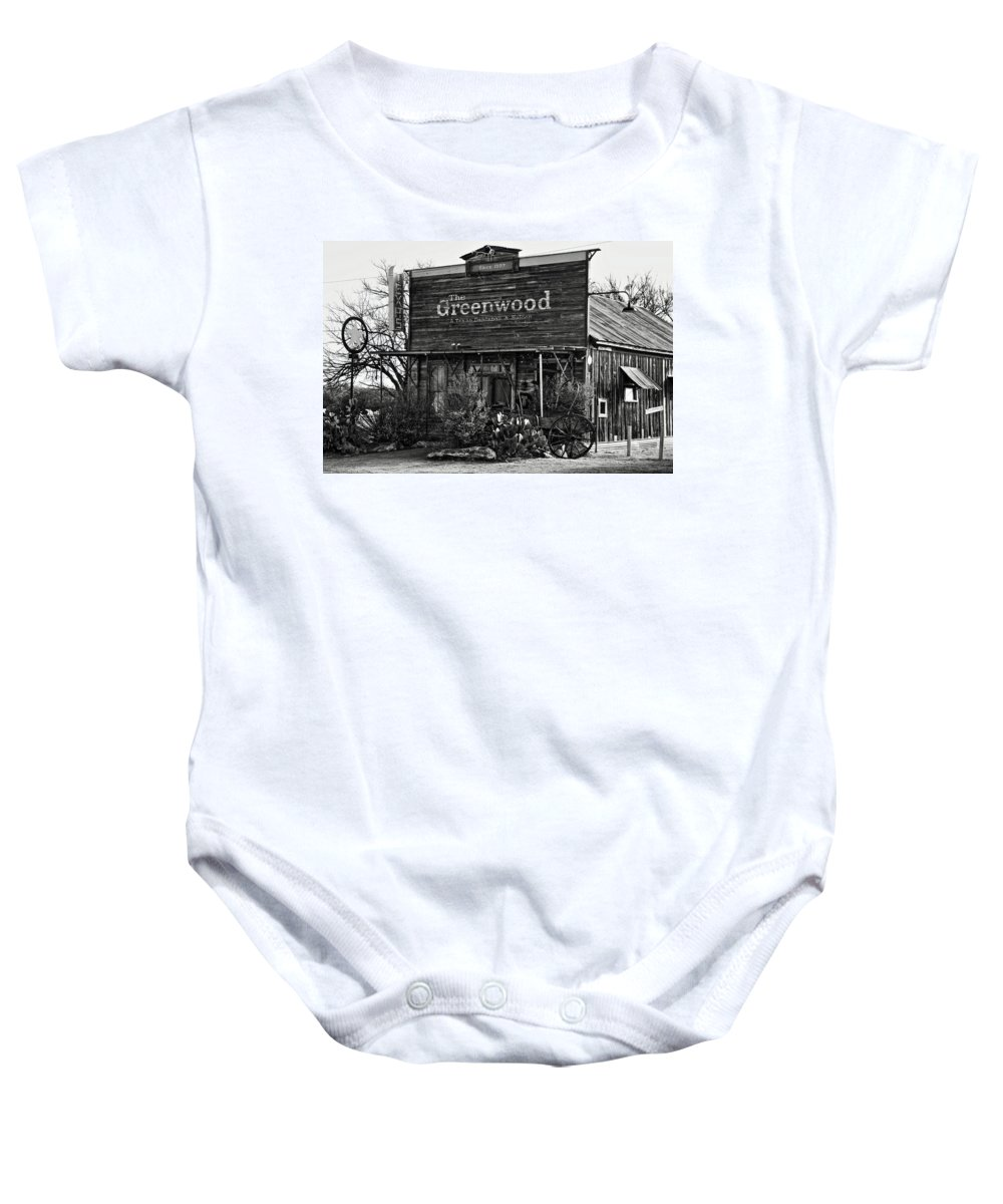 Bar Baby Onesie featuring the photograph The Saloon by Daniel Koglin