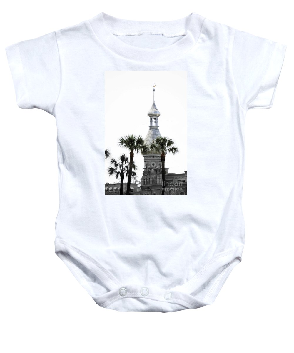 Moorish Architecture Baby Onesie featuring the photograph The Silver by Jost Houk