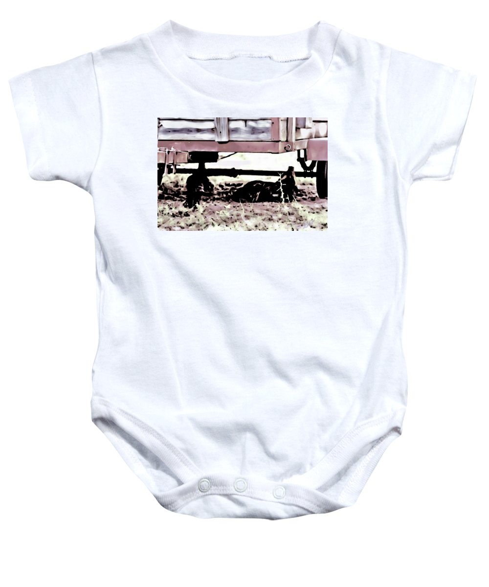 Trailer Baby Onesie featuring the photograph The Trailer by Gina O'Brien