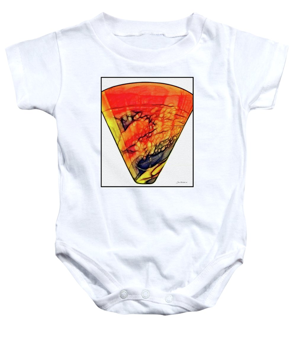 Abstract Baby Onesie featuring the digital art The Vase by Joan Minchak