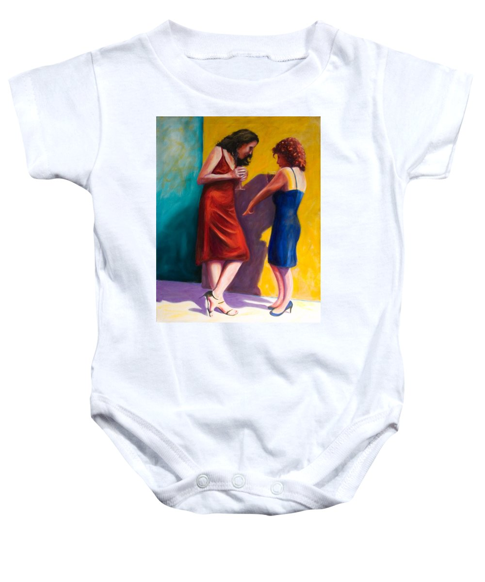 Figurative Baby Onesie featuring the painting There by Shannon Grissom