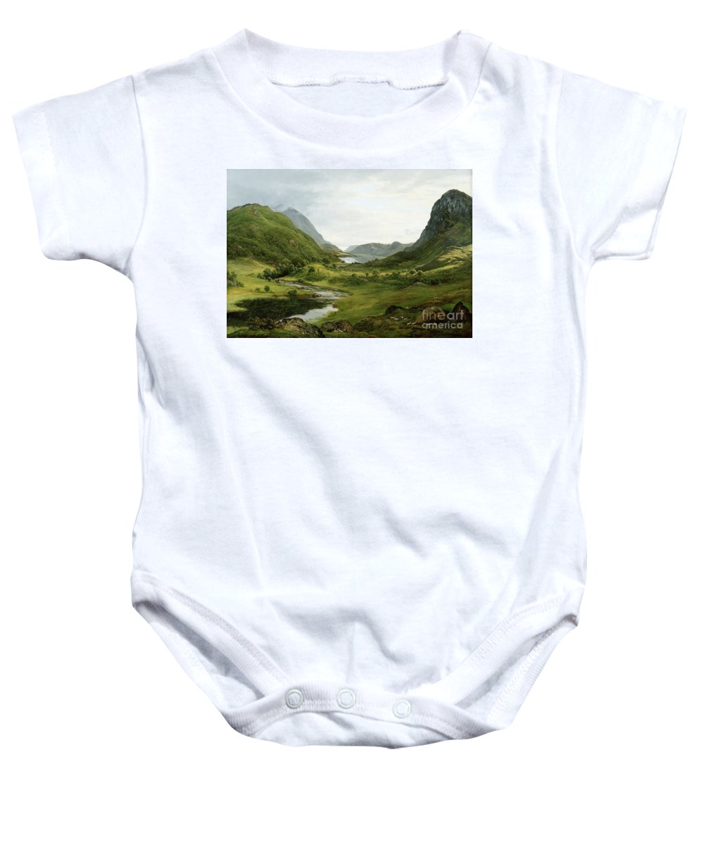 Thirlmere Baby Onesie featuring the painting Thirlmere by John Glover