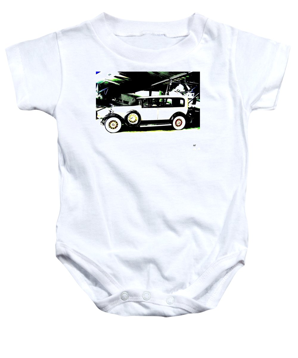 Packard Baby Onesie featuring the digital art Thirties Packard Limo by Will Borden