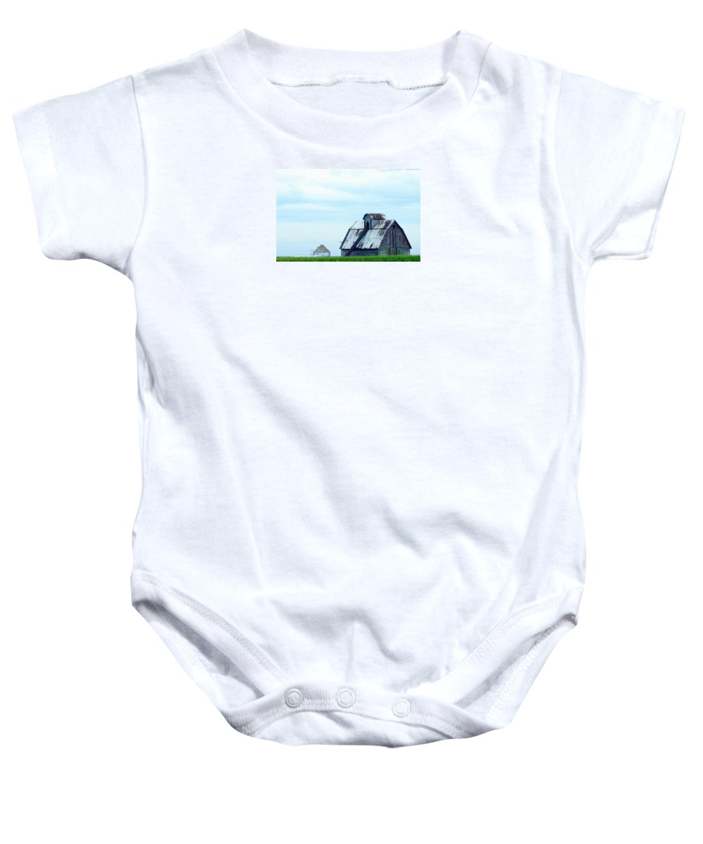 Photography Baby Onesie featuring the photograph This Old Barn by J R Seymour