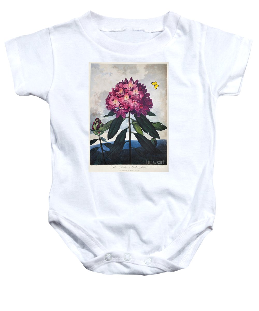 1802 Baby Onesie featuring the photograph Thornton: Rhododendron by Granger