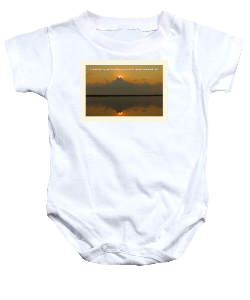 Sunrise Baby Onesie featuring the photograph Thought For The Day by Laura Ragland