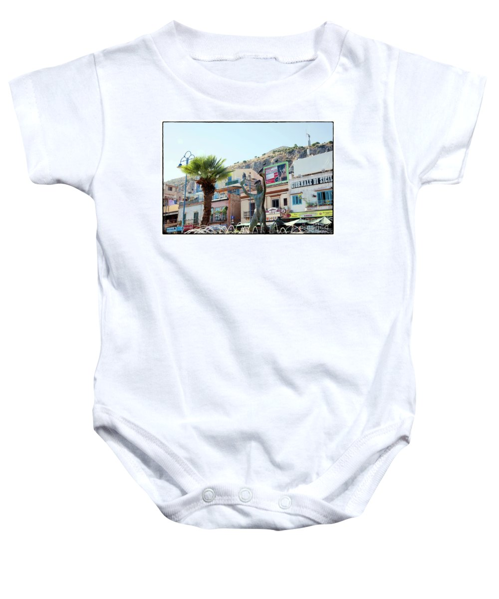 Statue Baby Onesie featuring the photograph Three Birds by Madeline Ellis