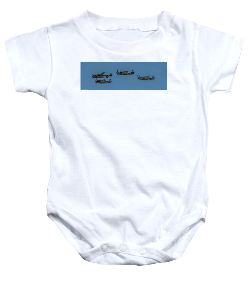 Republic P-47 Thunderbolt Baby Onesie featuring the photograph Thunder And Lighting by Tommy Anderson