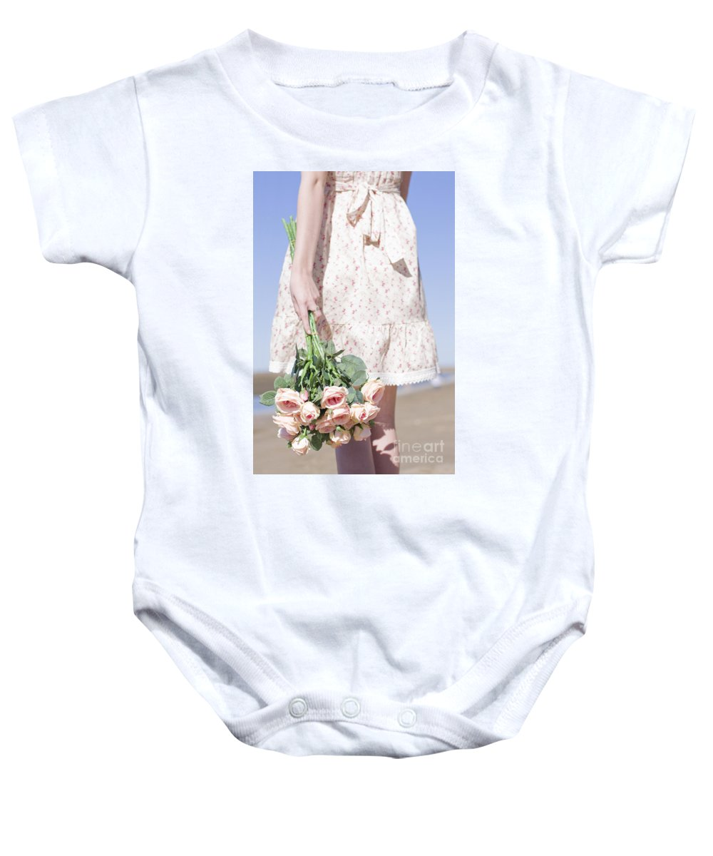 Flora Baby Onesie featuring the photograph Tide Of Romance by Jorgo Photography - Wall Art Gallery
