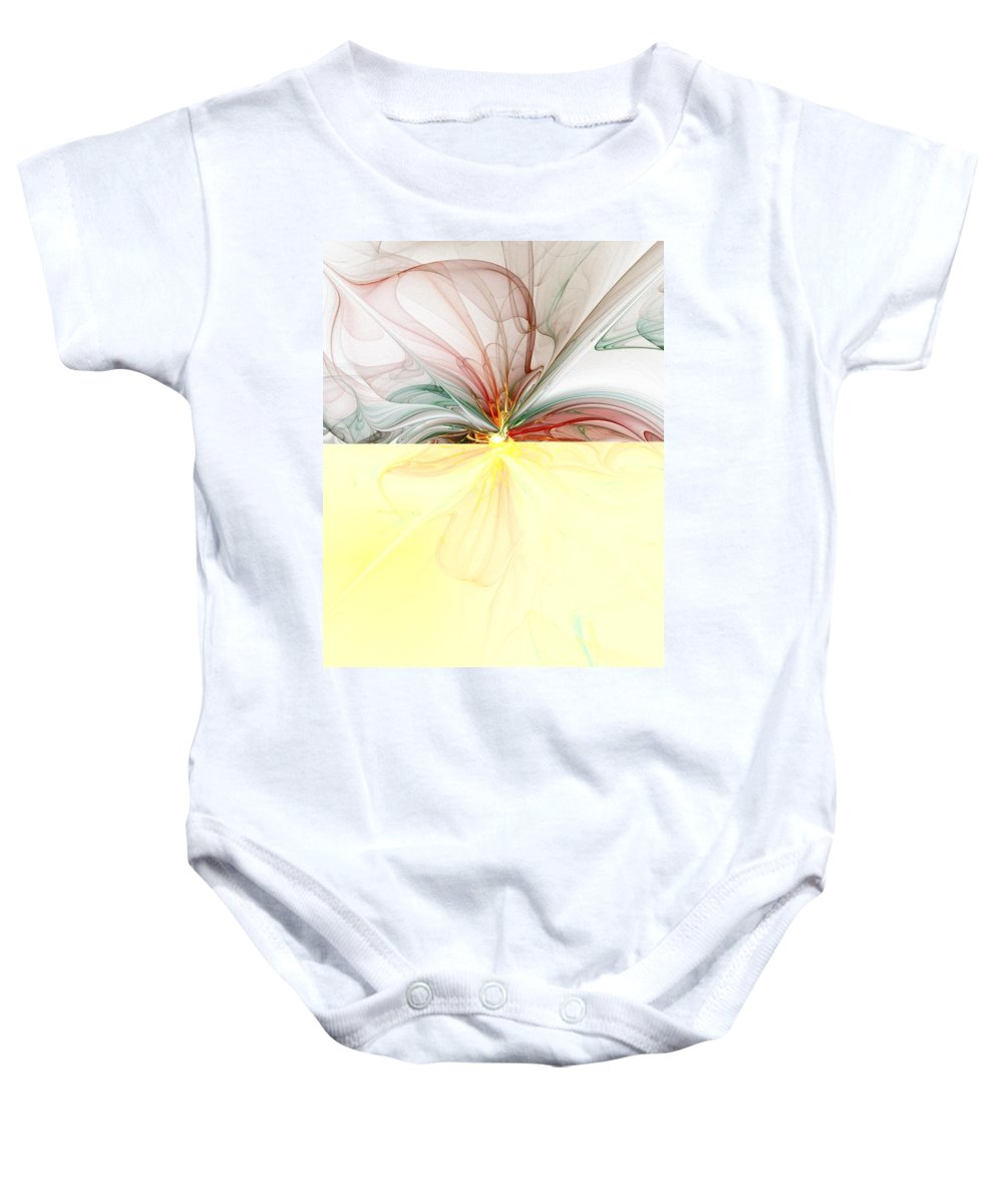 Digital Art Baby Onesie featuring the digital art Tiger Lily by Amanda Moore