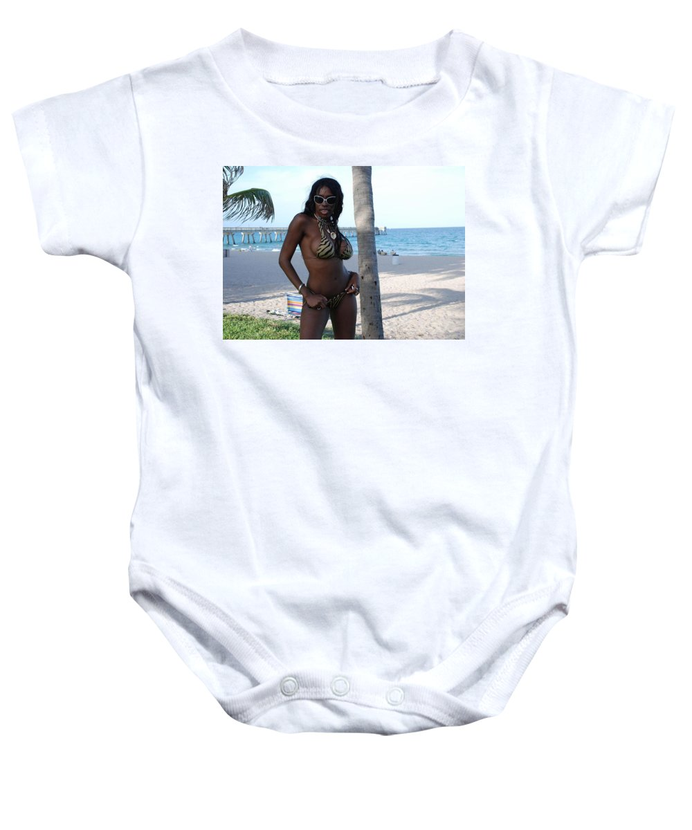 Sand Baby Onesie featuring the photograph Tiger Stripes by Rob Hans