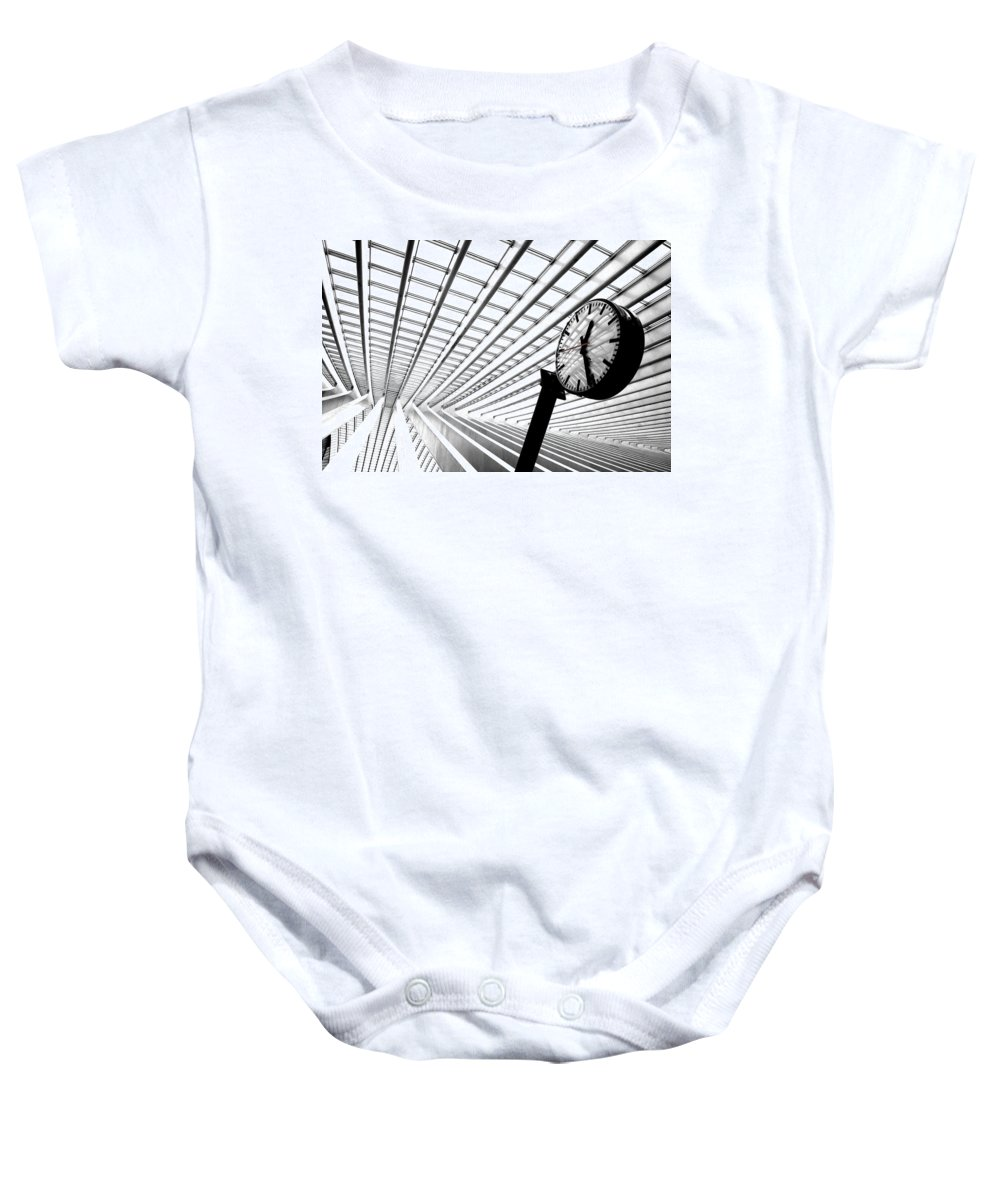 Liege Baby Onesie featuring the photograph Time To Go by Rob Hawkins