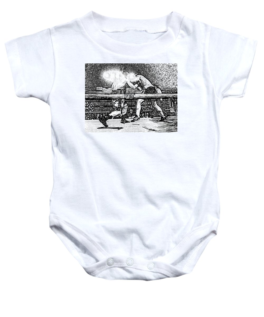 Boxing Baby Onesie featuring the photograph Titans Of The Ring by David Lee Thompson