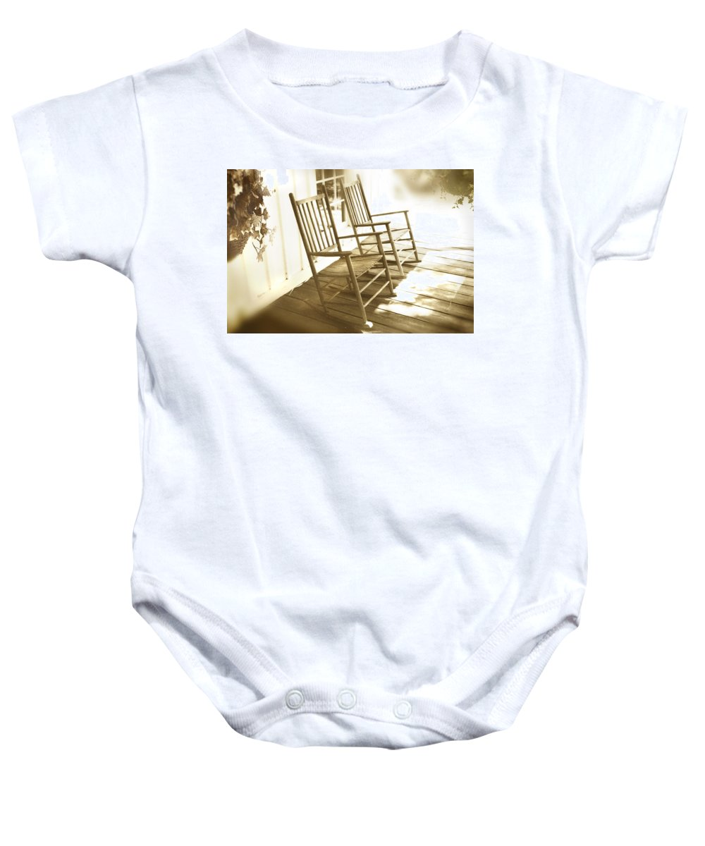 Together Baby Onesie featuring the photograph Together by Mal Bray