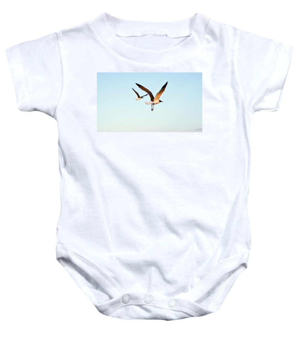 Two Baby Onesie featuring the photograph Together by Marilyn Hunt