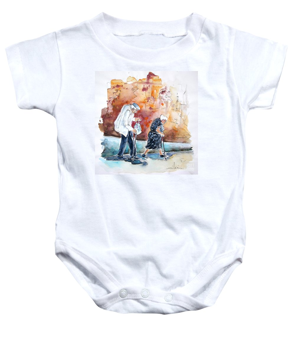 Portugal Paintings Baby Onesie featuring the painting Together Old In Portugal 01 by Miki De Goodaboom