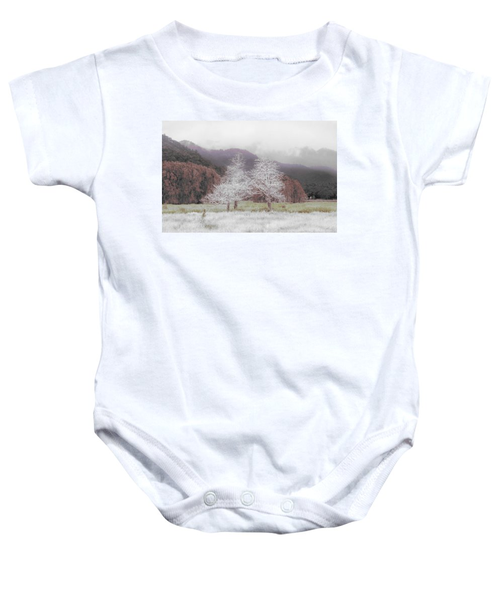 Landscape Baby Onesie featuring the photograph Together We Stand by Holly Kempe