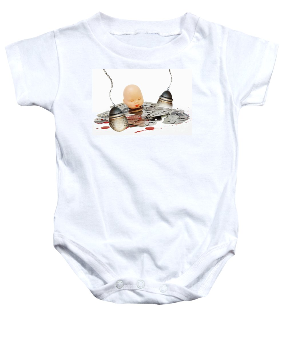 Allegory Baby Onesie featuring the photograph Too Strong Tea by Michal Boubin