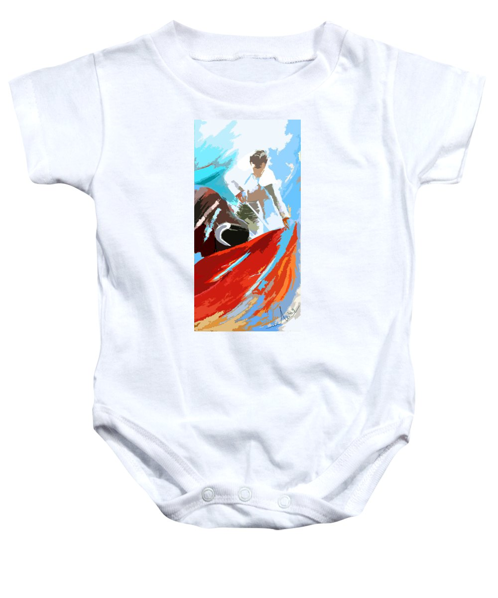 Animals Baby Onesie featuring the painting Toroscape 32 by Miki De Goodaboom