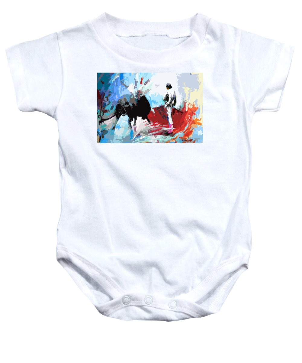 Animals Baby Onesie featuring the painting Toroscape 35 by Miki De Goodaboom