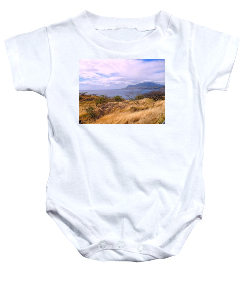 St Kitts Baby Onesie featuring the photograph Towards Basseterre by Ian MacDonald