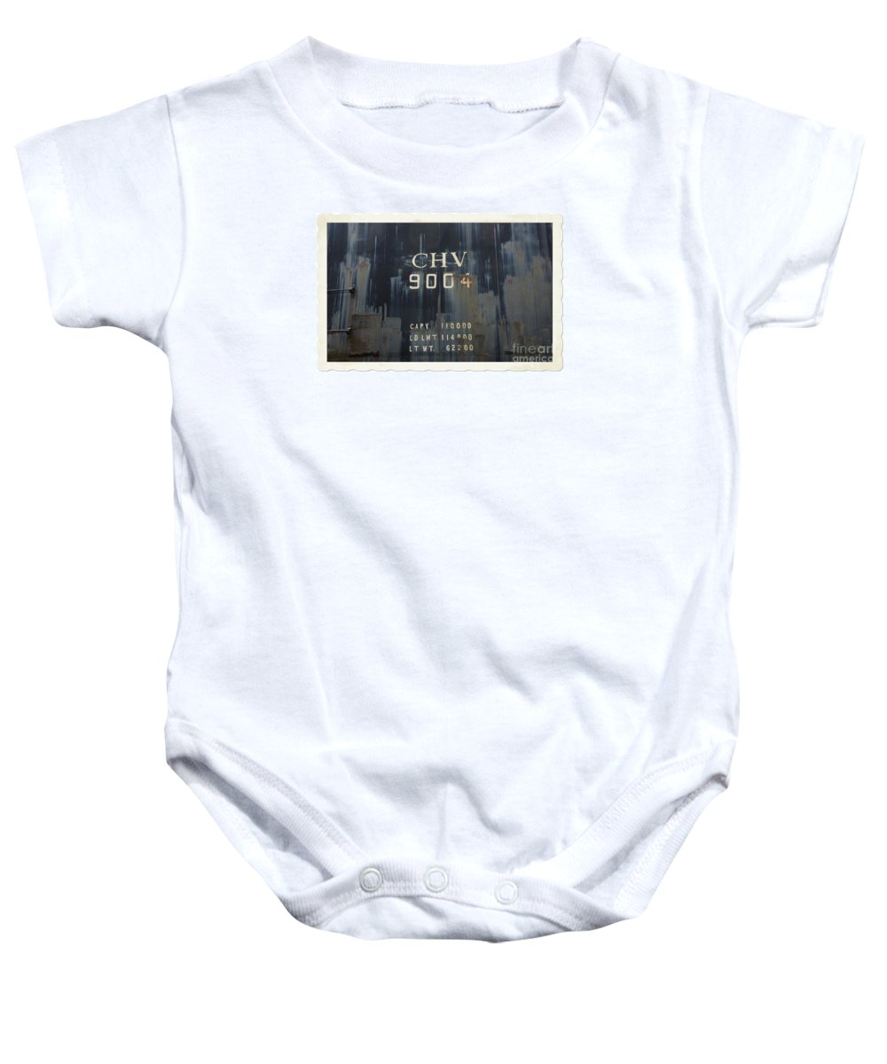 Train Baby Onesie featuring the photograph Trains 14 Autochrome Border by Jay Mann