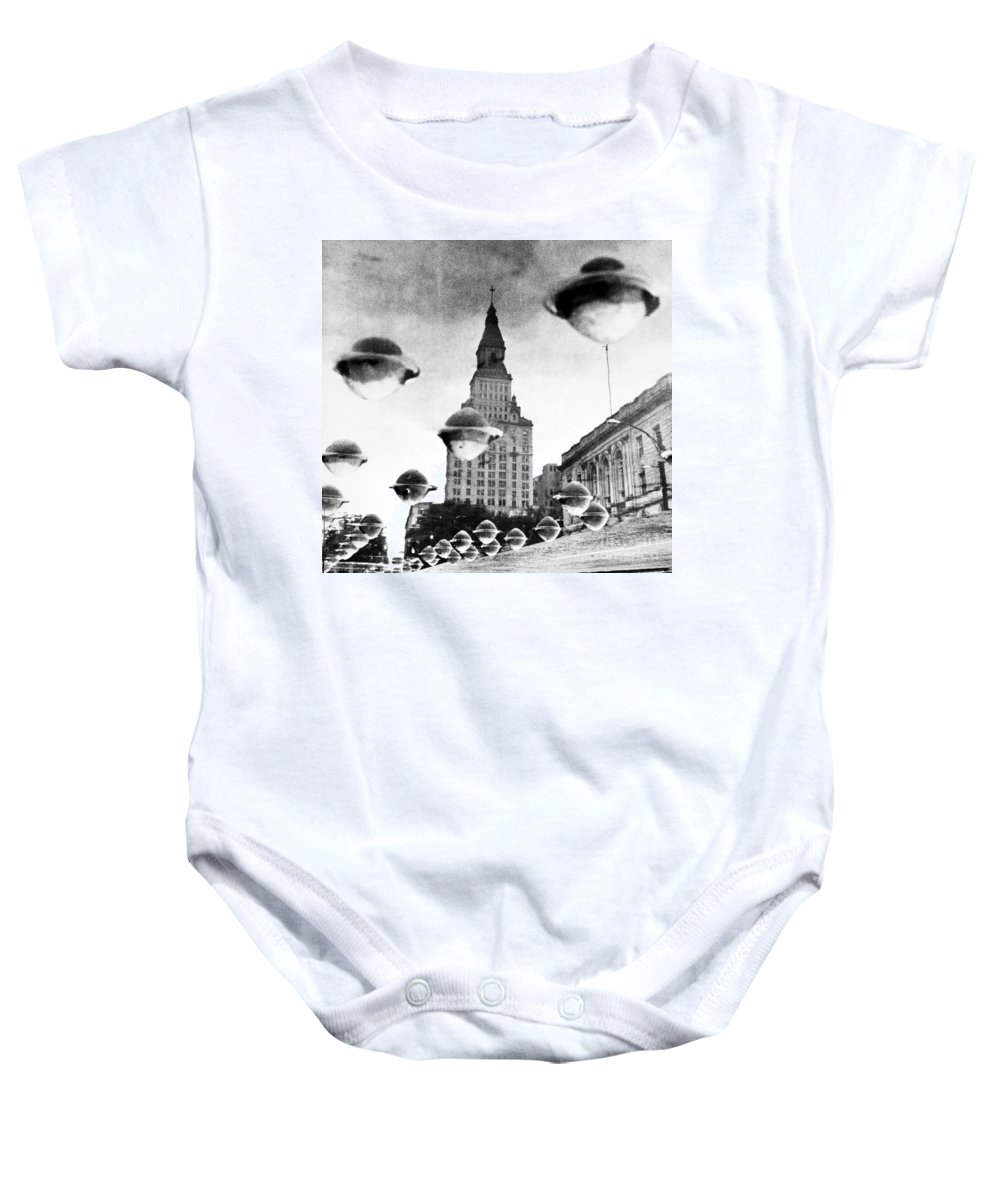 1960 Baby Onesie featuring the photograph Travelers Insurance Tower by Granger