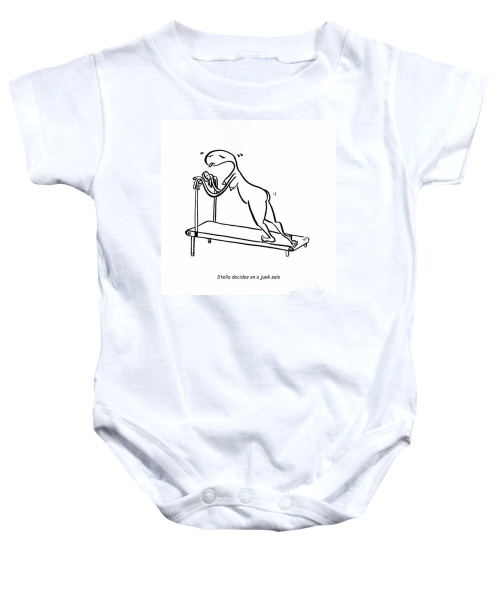 Stella Baby Onesie featuring the digital art Treadmill by Leanne Wilkes
