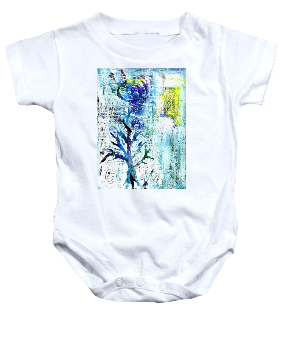 Tree Baby Onesie featuring the painting Tree Of Life by Wayne Potrafka