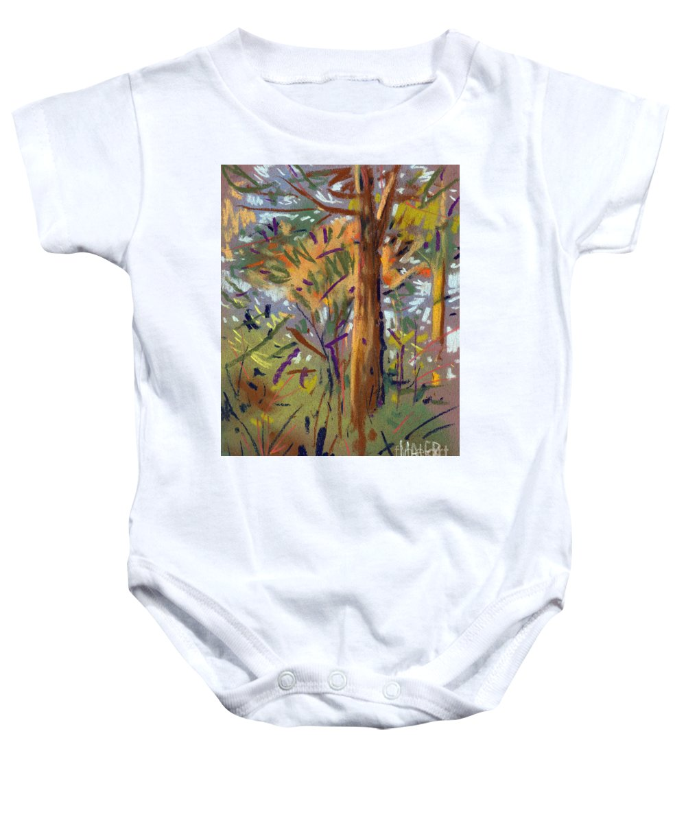 Trees Baby Onesie featuring the drawing Tree Sketch by Donald Maier