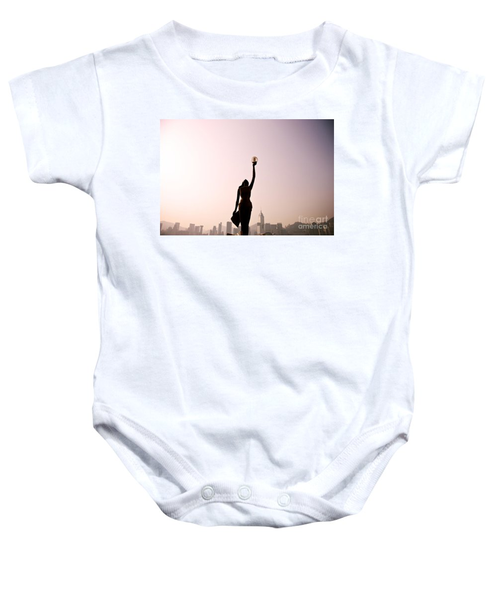 Alongside Baby Onesie featuring the photograph Tsim Sha Tsui K by Ray Laskowitz - Printscapes