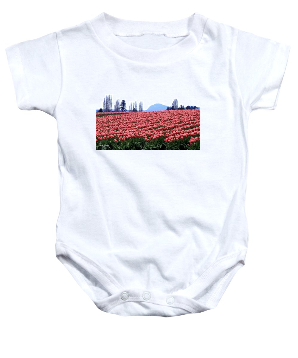Agriculture Baby Onesie featuring the photograph Tulip Town 3 by Will Borden