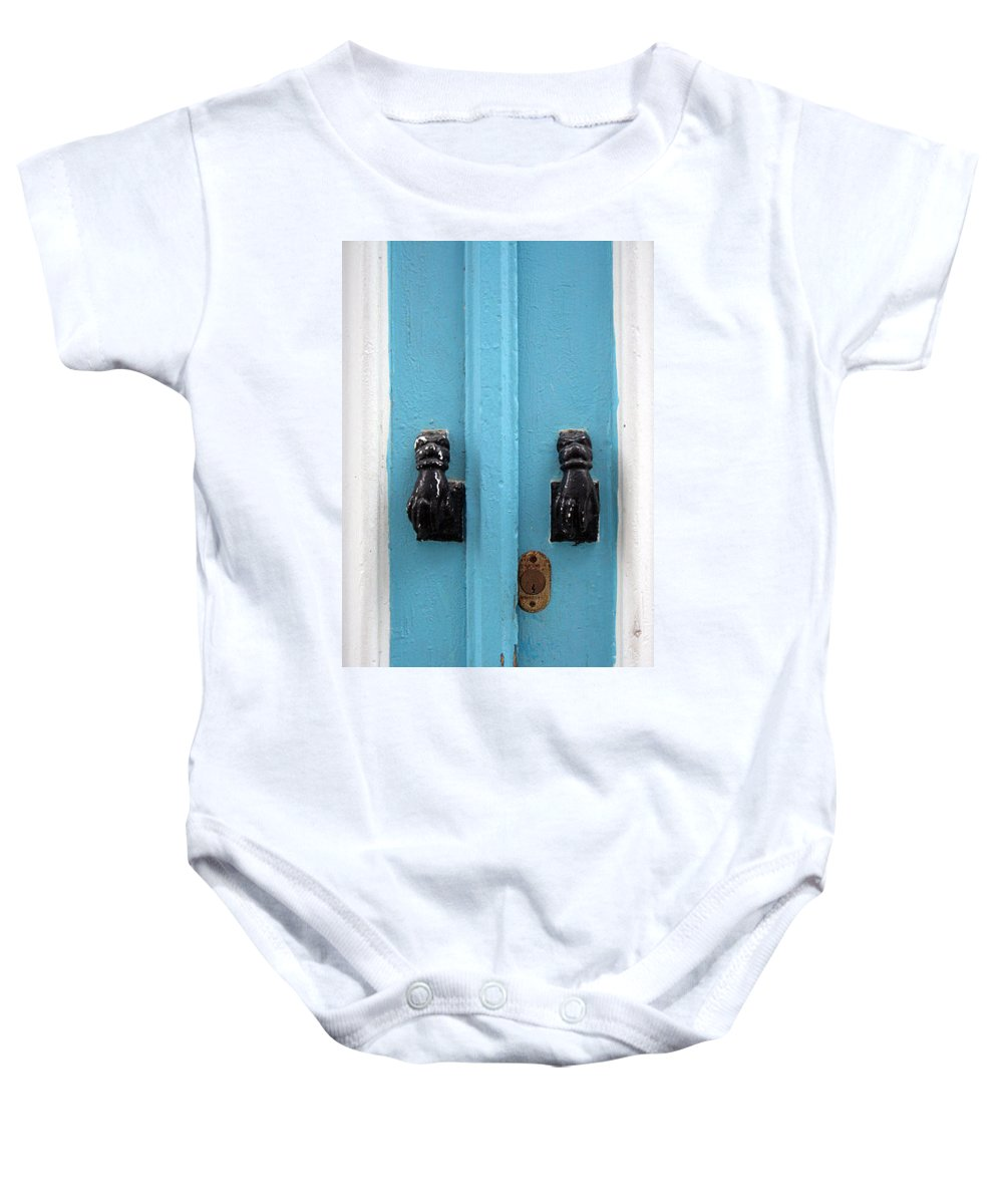 Tunisiandoor Baby Onesie featuring the photograph Tunisiandoor4 by Yesim Tetik