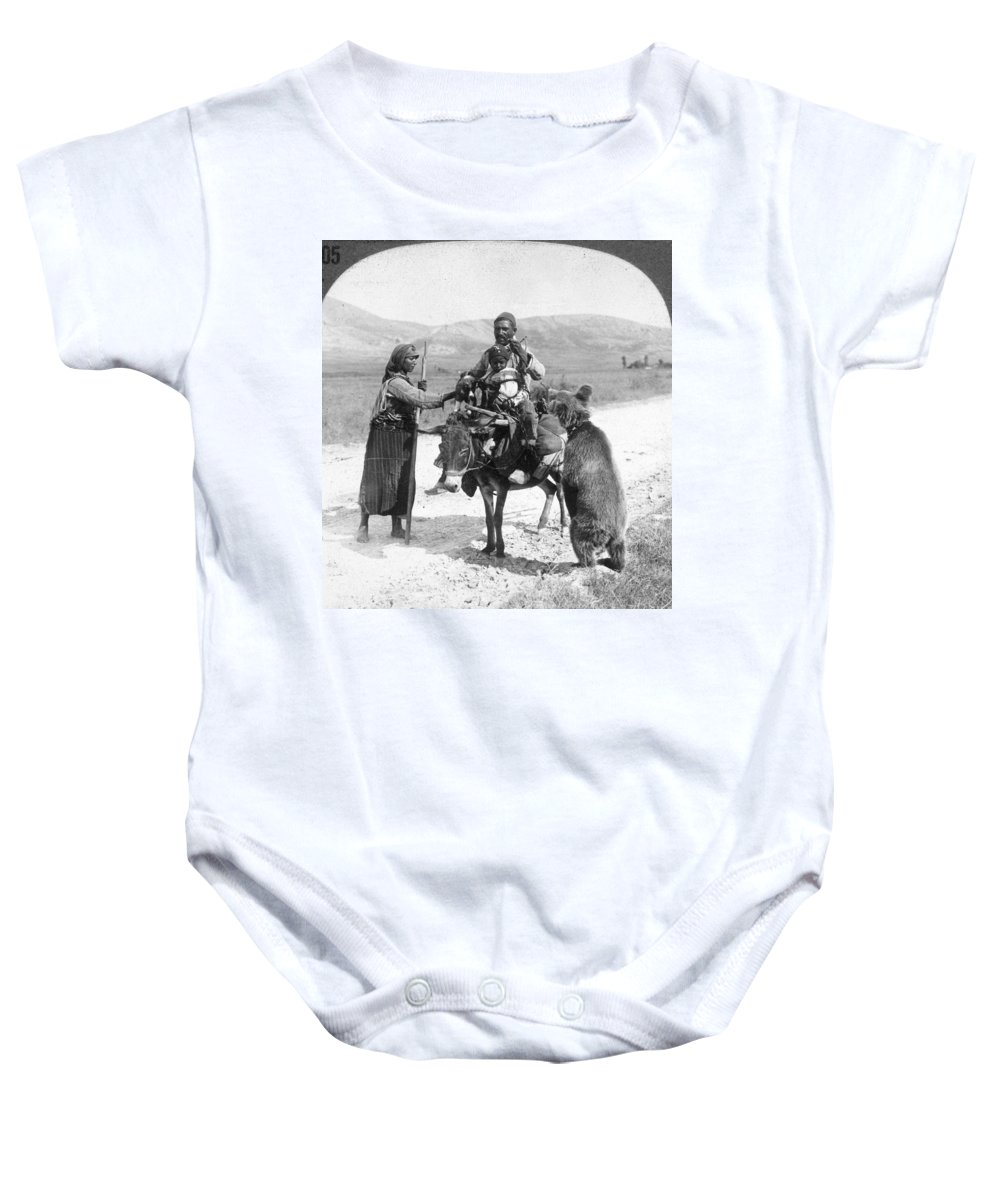 1910 Baby Onesie featuring the photograph Turkey: Circus Troupe by Granger