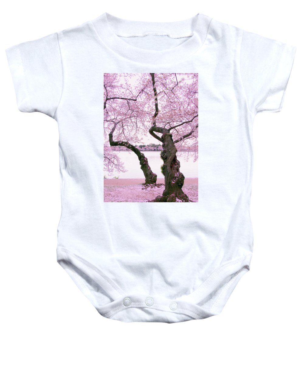 Spring Baby Onesie featuring the photograph Twisted In Bloom by Iryna Goodall